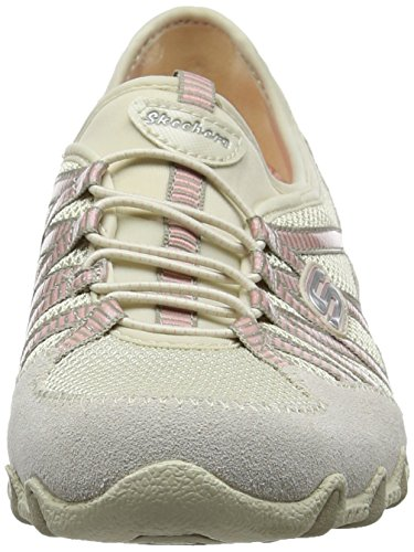 Skechers Bikers - Hot-ticket, Damen Ausbilder, Beige (Natural/taupe), 39.5 EU - 4