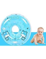 Infant Natación Flotador Inflable Anillo de Seguridad,GZQES,Asiento Inflable de Piscina Nadar Anillo para Bebe (Azul)