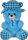#4: AVS Stuffed Spongy Soft Cap Teddy Bear (Skyblue Color) - 55 cm (Skyblue)