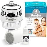 dewifier – el Ultimate descalcificador de agua filtro de ducha para alcachofa de ducha | duchas de mano | Combo incluye Kit de prueba de agua a prueba de agua filtrada