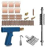 Baugger Kit di riparazione per ammaccature per saldatore di perni - 77 pezzi Tirare l'artiglio Saldatrice restringente Scivolo Martello Estrattore Anelli di rullatura Rondelle rotonde Cavi Wiggle