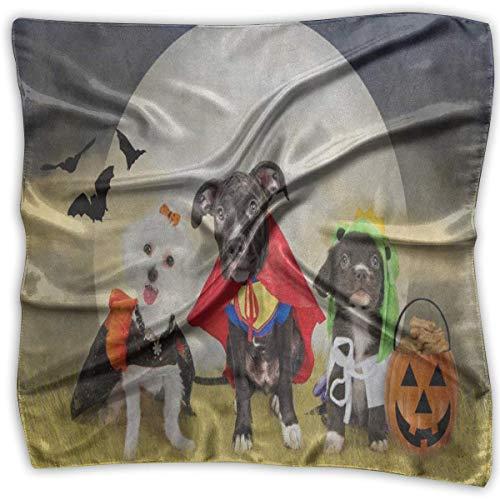 Quadratischer Schal, Hipster-Kürbisgesicht, Halloween-Haarband, Unisex, Kopf- und Halsband, für Erwachsene