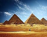 Digitale Malerei Nach Zahlen Für Erwachsene Auf Leinwand Schöne Ägyptische Pyramiden Zeichnungsfärbung Bilder Modern Diy Kits Kunstwerk Zuhause Einzigartig Dekoration Geschenk Frameless 40X50Cm