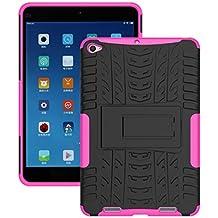 FundasTablet Xiaomi Mi Pad 2 7,9 pulgadas, KATUMO® Carcasa Silicone Funda Goma para Bumper Case Cover Xiaomi Mi Pad2 Funda Protector-Rosa Roja