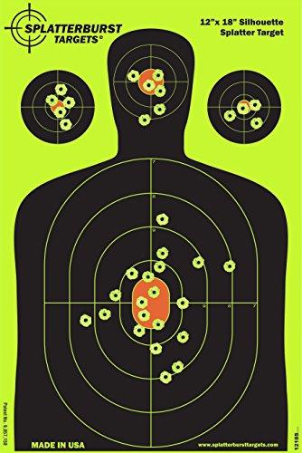 terbursts Targets - 30,5 x 45,7 cm Reaktive Silhouettenscheibe - Schüsse platzen beim Aufprall leuchtend gelb - Gewehr - Pistole - AirSoft - BB Gun - Luftgewehr ()