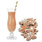 Lebkuchen Geschmack Eiweißpulver Milch Proteinpulver Whey Protein Eiweiß L-Carnitin angereichert Eiweißkonzentrat für Proteinshakes Eiweißshakes Aspartamfrei (200 g)