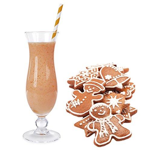Lebkuchen Geschmack Eiweißpulver Milch Proteinpulver Whey Protein Eiweiß L-Carnitin angereichert Eiweißkonzentrat für Proteinshakes Eiweißshakes Aspartamfrei (1 kg)