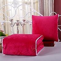 Almohada acolchada Cubiertas de la almohadilla almohadilla de doble uso Amortiguador de la oficina Cojines de sofá pequeño-F 40x40cm(16x16inch)