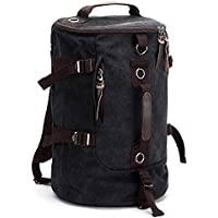 Portable Canvas Mens Backpack Rucksack Travel Outdoor Laptop Hiking Luggage  Gym Satchel Bag Duffle 18a037fa5833d