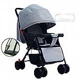 YC Cochecito de Bebé Sentado Reclinable Ligero Plegable Paraguas de Choque Niño Niños Carrito de Bebé de Cuatro Ruedas,Segundo
