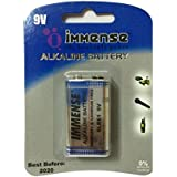Immense 6LR61 9v Alkaline Battery (2 Blister Packs With 1 Cell Each)
