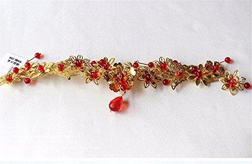 �m Kopfschmuck Red Phoenix Crown Ehe Drachen Haar Haarschmuck Show Wo Kleidung Zubehör Chinesische Hochzeit Zubehör (Phoenix Kostüm Kind)