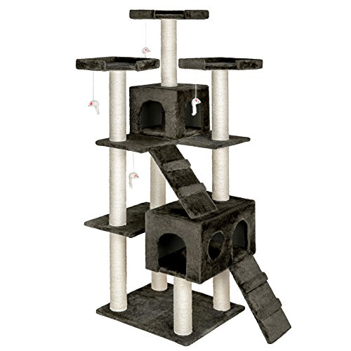 ► Un rascador es un gran entretenimiento para cualquier gato. Con un rascador, los gatos pueden afilar perfectamente sus garras y así mantener sus muebles intactos. El rascador resulta también excelente como lugar para dormir o acurrucarse. Los gatos...