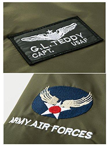 Herren Übergangsjacke Bomberjacke Fliegerjacke Militär Freizeitjacke Sportjacke Mehrere Farben zur Auswahl Armee Grün 06
