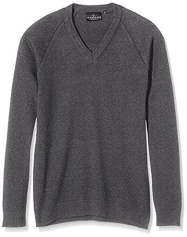 J Masters Schoolwear Unisex V Neck Knitted School Jumper, Pull
