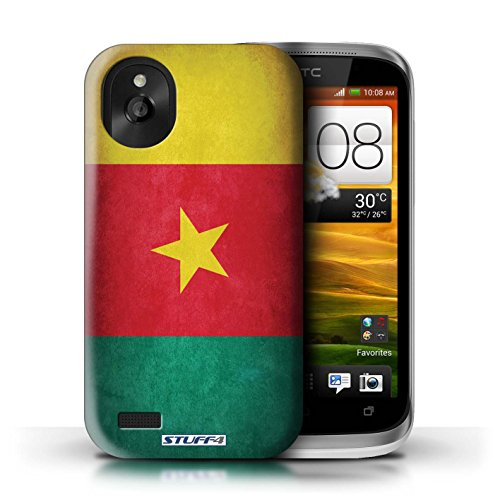 Kobalt® Imprimé Etui / Coque pour HTC Desire X / Russie conception / Série Drapeau Cameroun