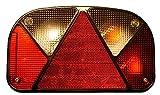 Muli tpoint lampada II, lato destro, con chiusura, freno per freccia lampada fendinebbia e per targa, incl. Lampadine e catarifrangente a triangolo senza porta-lampadina
