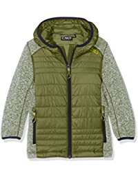 CMP punto Hybrid Joven 3h60574Chaqueta, Otoño-invierno, niño, color verde oliva, tamaño 152