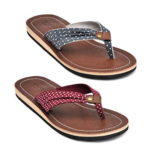 Amboss Damen Sandale, Zehentrenner mit Echt Leder Gr.38 Farbe Blau