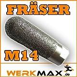 Werkmax M14 Fingerfräser Fräser Lochfräser Lochfräse Fliesen Feinsteinzeug