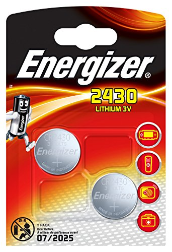 Energizer 2430 Lithium Coin Battery, 2-Pack