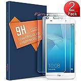 Protection écran Huawei Honor 5C Verre Trempé, SLEO Film Vitre Tactile Ultra Transparent Résistant aux Rayure Easy-Install pour Huawei Honor 5C - 2 Pack