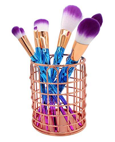 Xiaoyu Metall Make-up Pinsel Halter, Stifthalter, Bürobedarf Schreibtisch-Organizer, Roségold