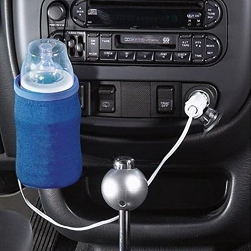 Gezichta Auto-Flaschenwärmer für Babyflaschen, universell, mit USB-Anschluss, tragbar, für Anschluss an Zigarrettenanzünder im Feuerzeug, blau