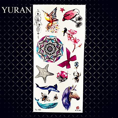 HXMAN 3pcs Marin Quallen Wasserdicht Temporäre Tattoos Für Kinder Kleine Gefälschte Niedliche Vögel Feder Tattoo Cartoon Tatoo Kinder Frauen GTL185