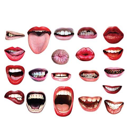 Requisiten Funny Sexy Rot Lippen Mund Zubehör DIY Kit für Hochzeit Party Ihre geschäftstreffen Geburtstage Chiristmas Halloween Festivals ()