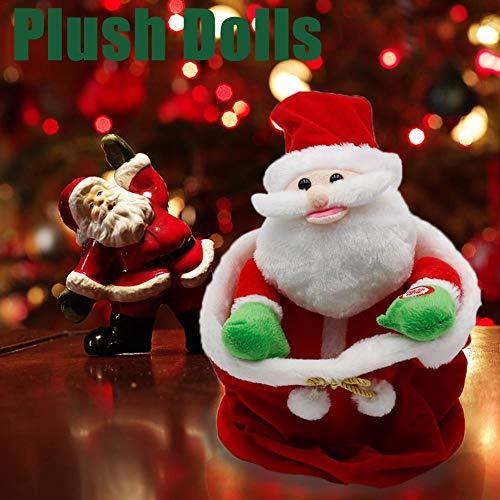 Eruditter Weihnachtsmann Puppe Cradle Innovative Stofftasche Plüsch Elektro Spielzeug Kinder Spielzeug