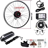 SEASON 36V 350W 26 Pollici con Cassette Ruota con Posteriore Motore Kit di Conversione e 36V12,5Ah Batteria per E-Bike Biciclette Elettriche