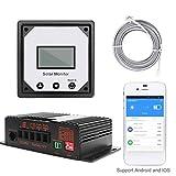 Topker 20A 12V App Regulators Solarmodule Überwachung Laderegler Auto-Solarbatterielade