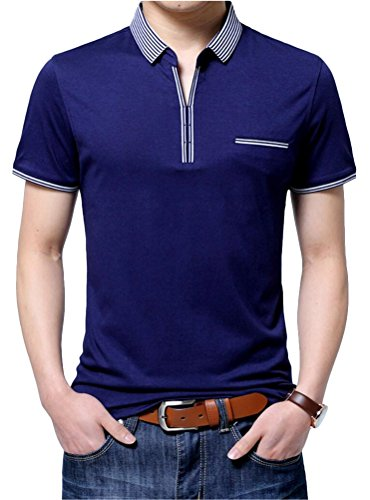 SMITHROAD Herren Poloshirt Kurzarm Polo Business T-Shirt XS bis 3XL Violett