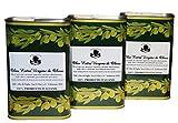 3 litri di Olio extravergine di oliva Delicato | 100% Italiano, ottenuto dalla Cultivar Cima di Mola| 3 lattine da 1 litro | Prodotto artigianale
