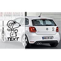 Snoopy Drive mit Text oder Name | Auto Aufkleber | coole Aufkleber | lustige | Wunschtext