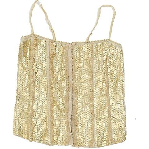 Bebe in pelle corsetto Top oro donna paillettes caricamento Large