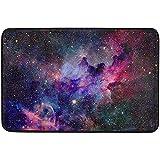 Klotr Fußabtreter, Nebula and Galaxies in Space Door Mat Rug Indoor/Outdoor/Front Door/Shower Bathroom Doormat, Non-Sli