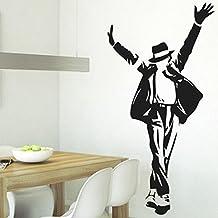 vinilo decorativo Michael Jackson. Color negro. Medidas: 60x110cm.