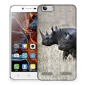 Snoogg Black Rhino Designer Protective Phone Back Case Cover For Lenovo K5 Vibe