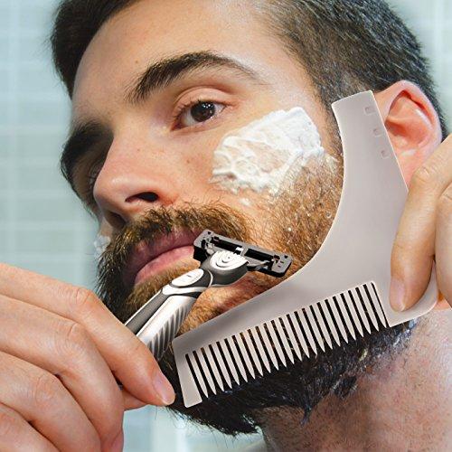 Magichome Bart Schablone Bartkamm Bart Styling Tool Bartschablone Rasierhilfe für Männer