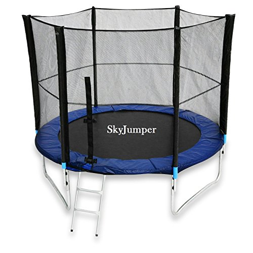 skyjumper 8 feet jumping trampoline with enclosure SkyJumper 8 Feet Jumping Trampoline with Enclosure 51ie8pctDXL