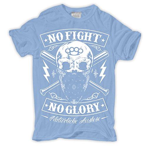 Männer und Herren T-Shirt Natürliche Auslese Hellblau