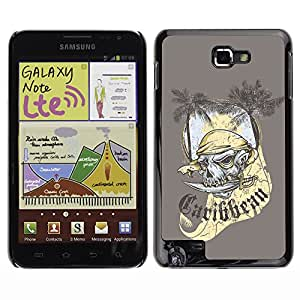 GagaDesign Phone Accessories: Tasche Etui Hülle Für Samsung Galaxy NOTE i9220 N7000 - The Carribean Pirate Skull Ghost