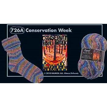 4 fach 726A Conservation Week Opal Sockengarn Hundertwasser III