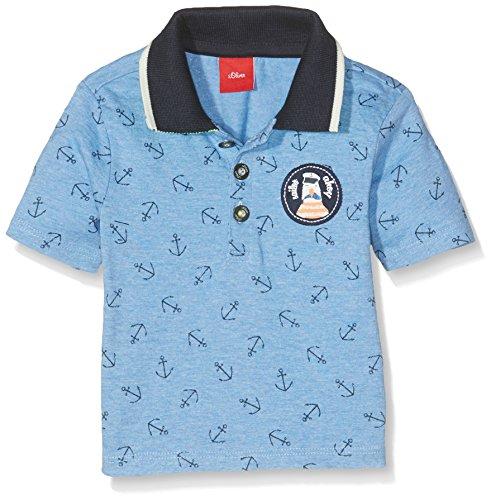 s.Oliver Baby-Jungen Poloshirt T-Shirt Langarm, Blau (Vergissmeinnicht Aop 53a6), 92