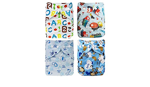 Cartoon  Baby Diapers Cover Adjustable Reusable Washable Nappies Cloth Wrap Z
