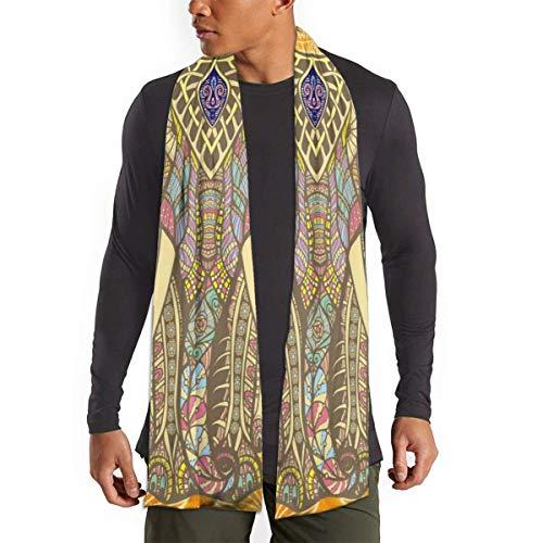 FlyGG Bufanda mandala de elefante para mujeres y hombres, ligera, unisex, de moda, otoño, invierno, chal