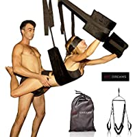 HOT DREAMS® Premium Liebesschaukel für die Decke Komplettset inkl. Augenbinde, Sexschaukel Spezialanfertigung extra robust/breit, Sexspielzeug für Paare