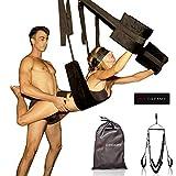 HOT DREAMS® Premium Liebesschaukel für die Decke Komplettset inkl. Augenbinde, Sexschaukel...